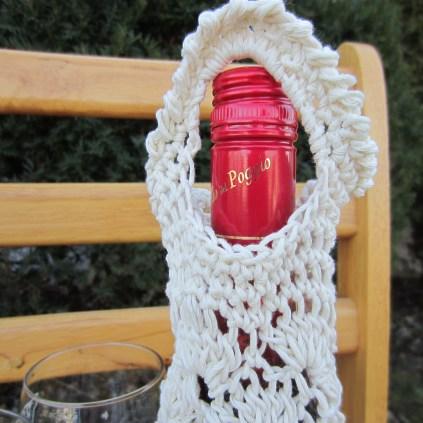 crochet, wine tote, etsy, blog, cotton yarn 011