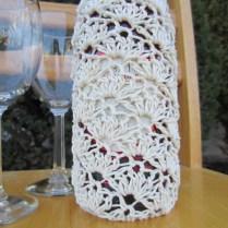 crochet, wine tote, etsy, blog, cotton yarn 012