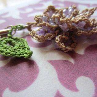 lavender, beaded crochet, etsy 011