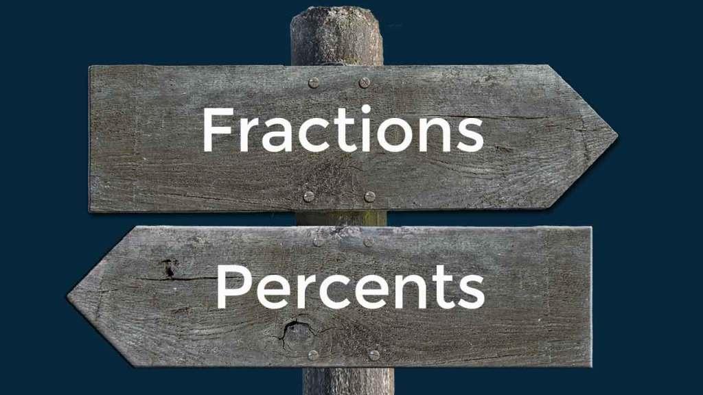 GMAT quant calculations. Fraction to Percent Conversion