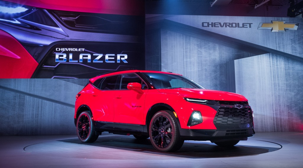2019 Chevrolet Blazer RS exterior - live reveal 001 by Chevy - front three quarters