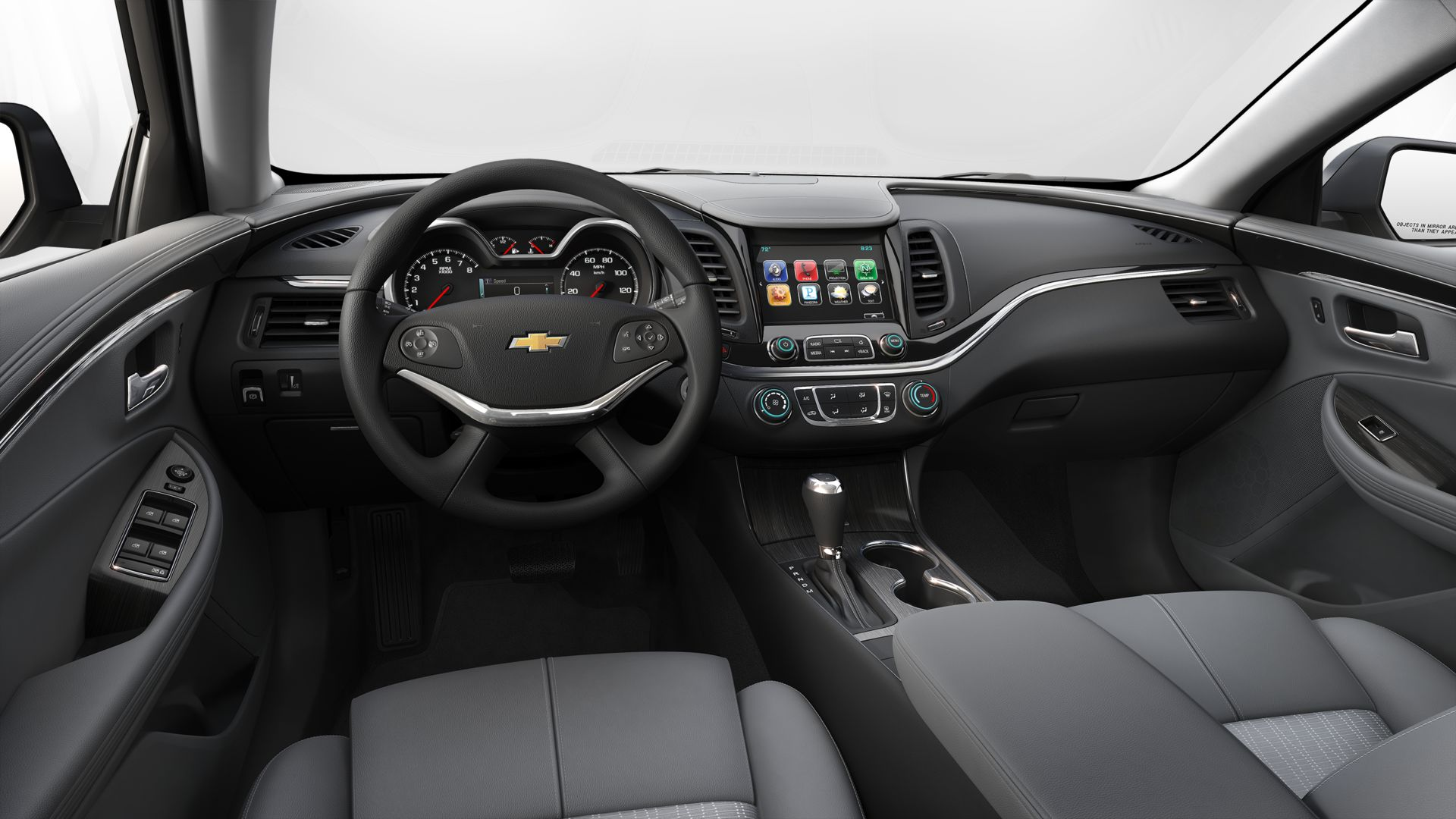 hight resolution of 2019 chevrolet impala jet black and dark titanium cloth with leatherette interior h0x
