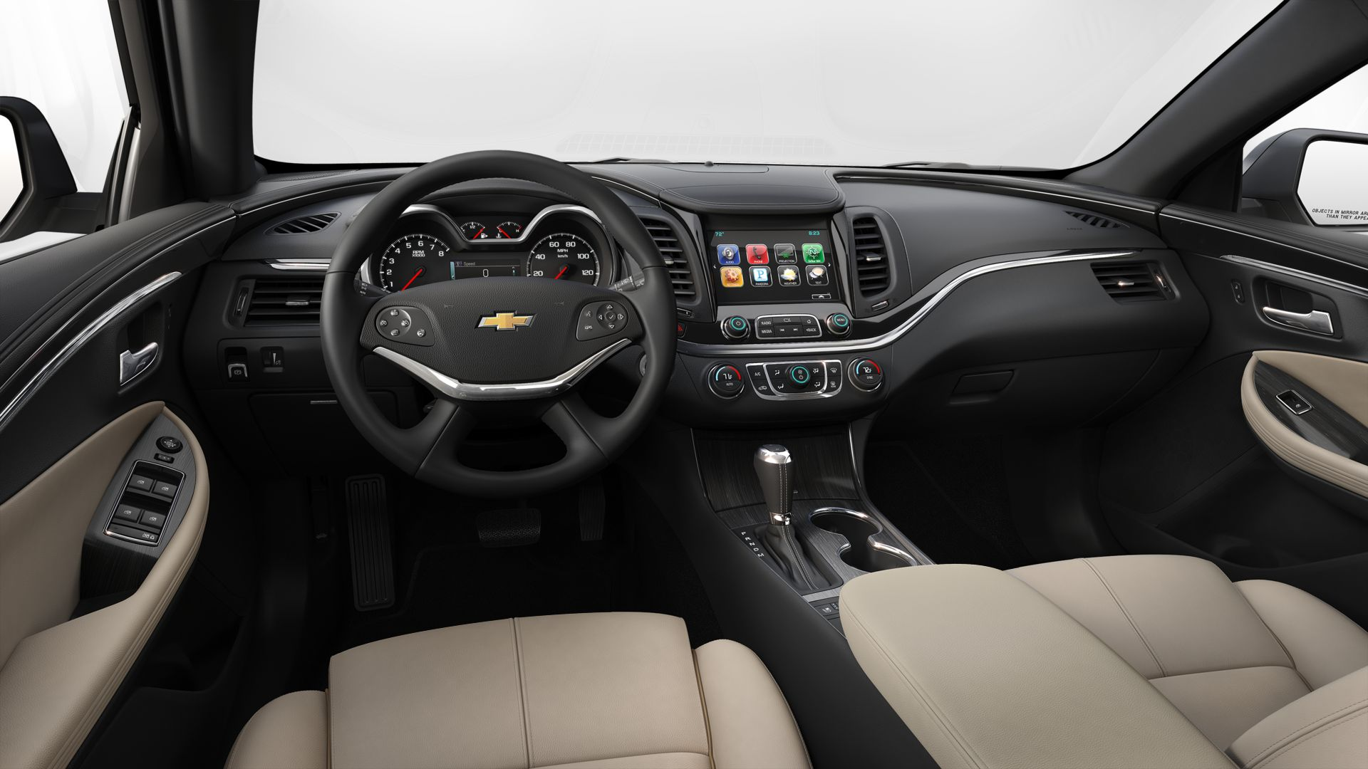 hight resolution of 2019 chevrolet impala jet black with light wheat leather interior hv9