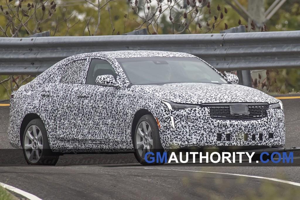 2020 Cadillac CT4 Spy Shots - Exterior - Production Headlights 004