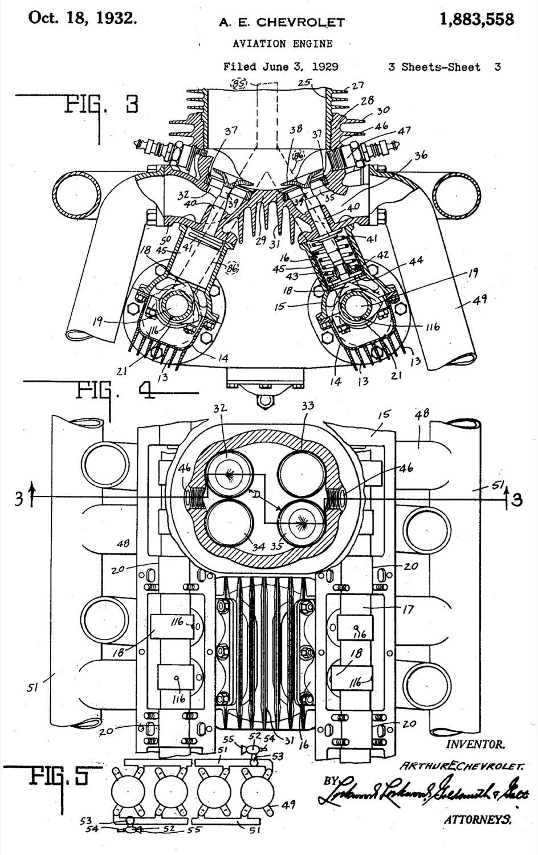 hight resolution of chevolair aircraft engine patent
