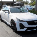 2020 Cadillac Ct5 V In Summit White Paint On Black Wheels Gm Authority