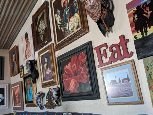 Tumbleweed Grill owner's art