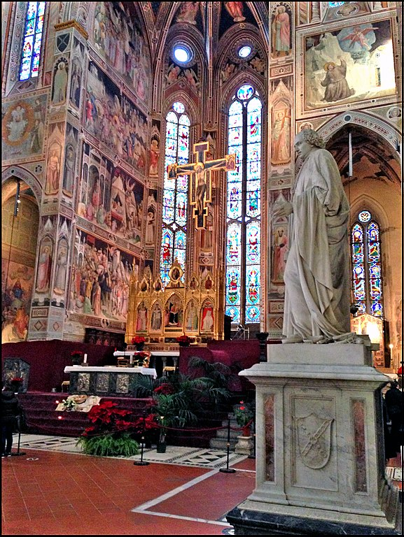 Interior of the Basilica of Santa Croce (Florence)