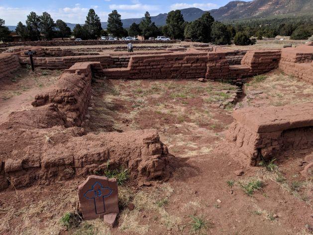 Low foundation walls at Pecos Pueblo
