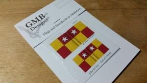 1st Silk pattern A.N.V. battle flags
