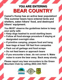 Bear Aware Sign