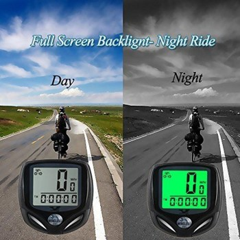 Bicycle Speedometer and Odometer Wireless Waterproof with Digital LCD Display by SY