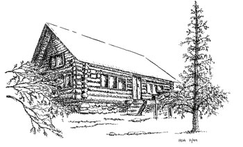 Drawings Mountain Lodge Sketch Coloring Page