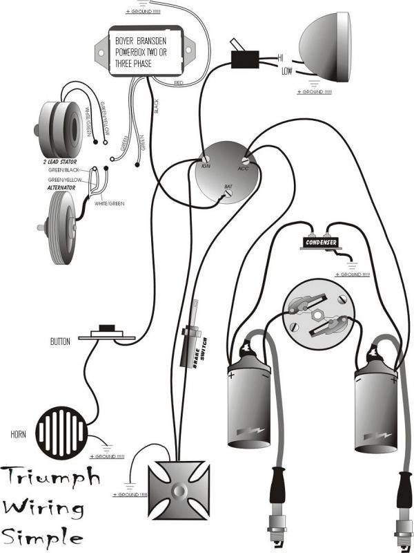 Triumph T120 Wiring Diagram G Amp M Choppers Triumph Simple Wiring