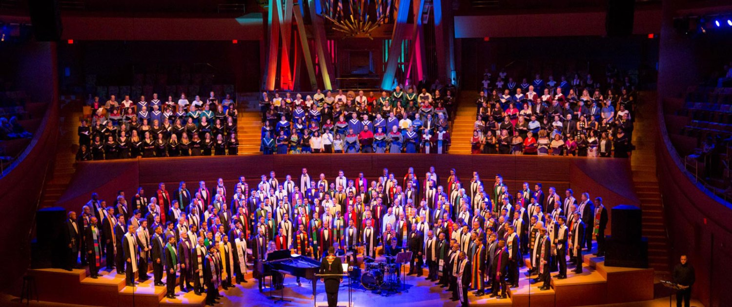 GMCLA performs with the massed Community Choruses at I Rise, Walt Disney Concert Hall, July 8 2017