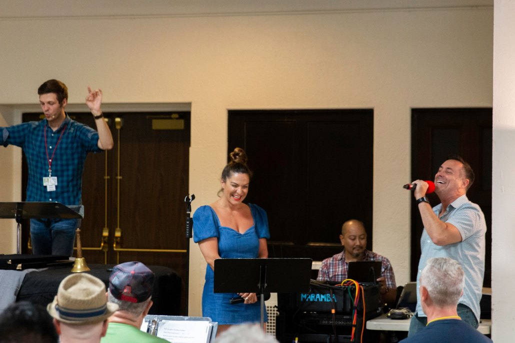 2019.08.12 Rehearsal with Crissy Metz and Shoshana Bean