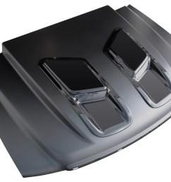 2007 2013 gmc sierra 1500 2007 2010 gmc sierra 2500 3500 ram air style 2 cowl induction hood [ 1500 x 1103 Pixel ]