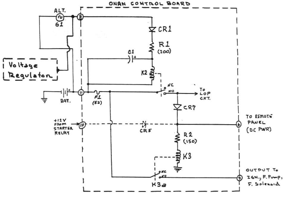 wiring diagram starter genset