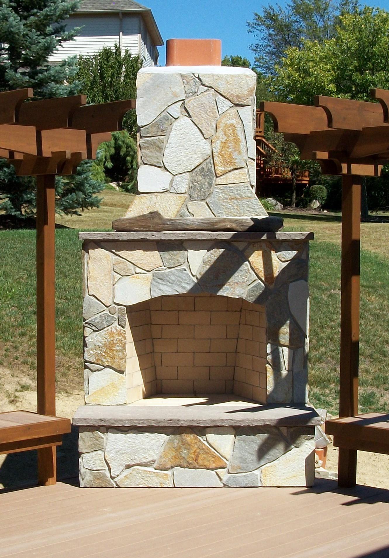 Unique Outdoor Fireplaces