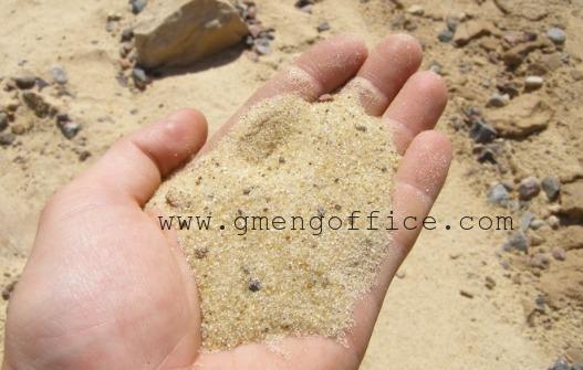انواع الرمل المستخدم في الخرسانة