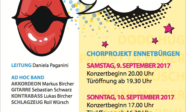 Chorprojekt Ennetbürgen – Konzerte MundArt