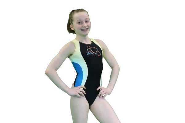 Black Yellow Blue Rio Leotard