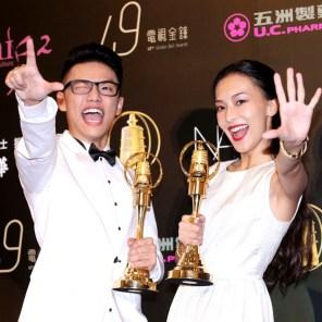 兒童少年節目主持人獎王伯源、陳瑋薇。