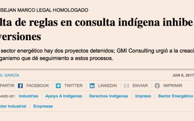 Falta de reglas en consulta indígena inhibe inversiones