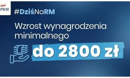 Minimalna krajowa wzrośnie, od 1 stycznia 2021.