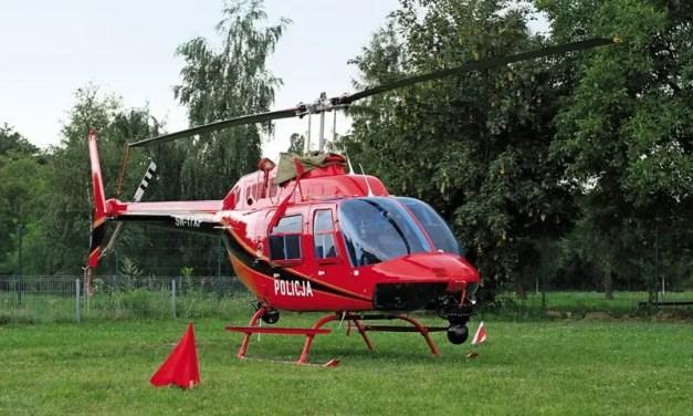 Helikopter Policji nad Autostradą A2. Łapie kierowców łamiących przepisy.