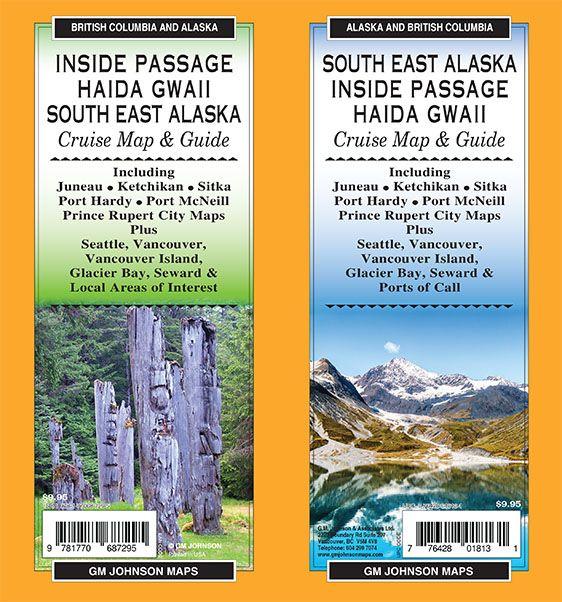 Inside Passage Cruise Map  Guide  GM Johnson Maps
