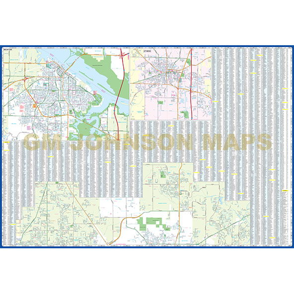 Map Alabama Huntsville And Decatur Alabama
