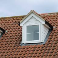 Close Up Of Pitch Roof Dormer. Property In Braintree.
