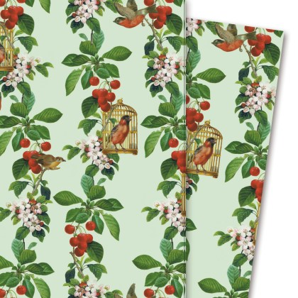 Geschenkpapier: Die Apfelkirsche