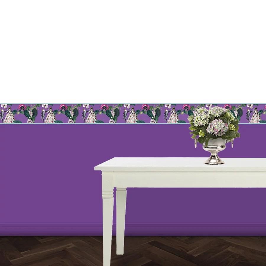 edle italienische tapeten borte comedia del arte. Black Bedroom Furniture Sets. Home Design Ideas