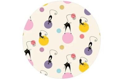 Fröhliche Kinder Tapete Katzen Polka