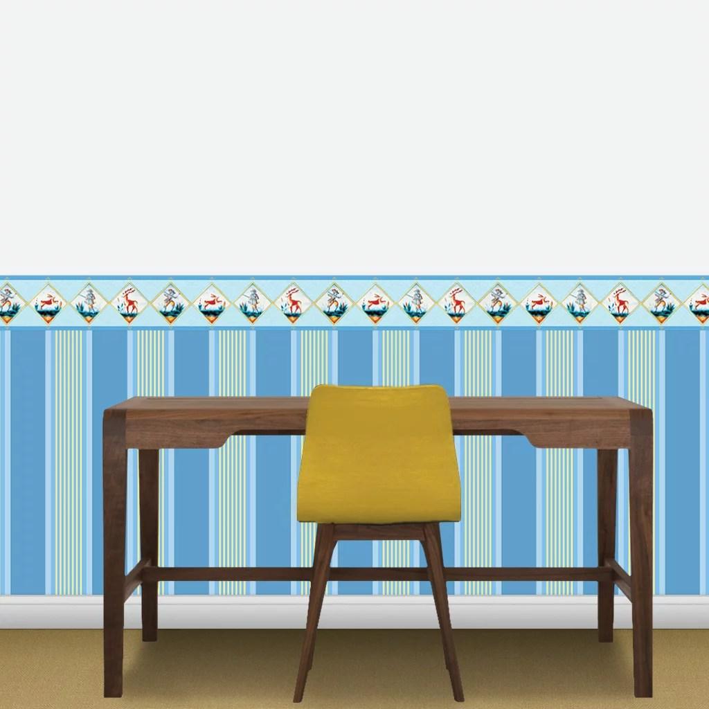 wandgestaltung k che streifen akzentwand mit schwarz wei en streifen gestaltet wandwunder trend. Black Bedroom Furniture Sets. Home Design Ideas