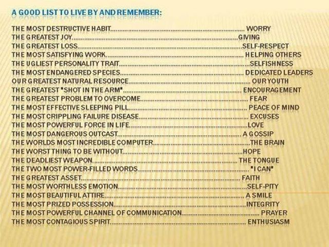 A very good list!