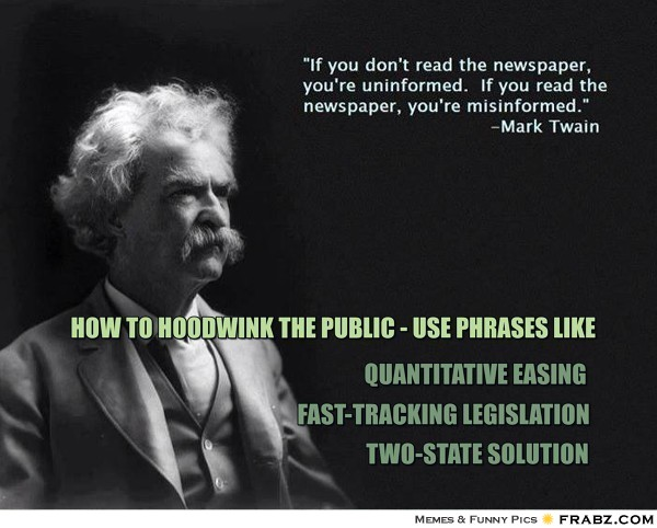 How to hoodwink the public