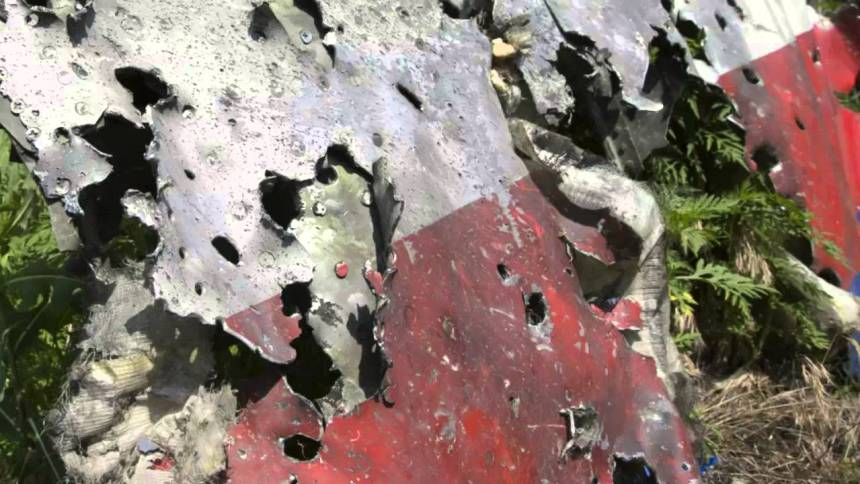 MH 17 riddled with bullets