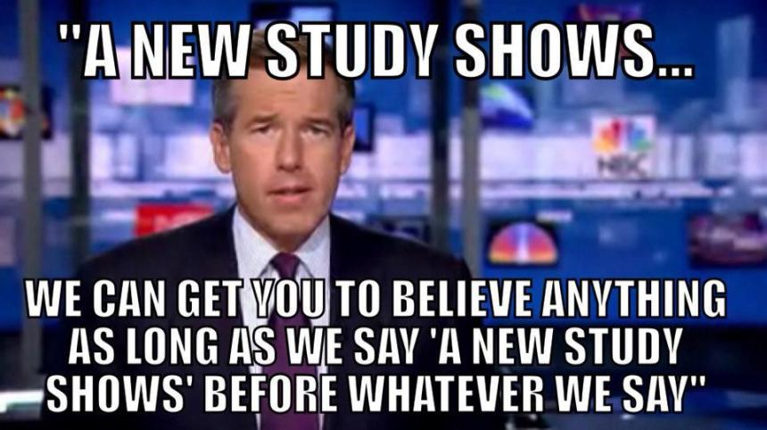 NEW STUDY MY ARSE!
