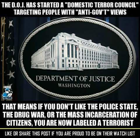 Anti-govt - terrorist