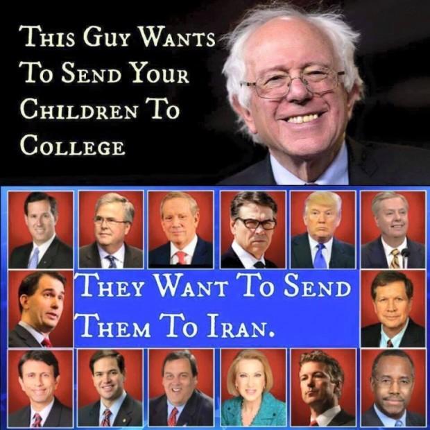 Bernie the college man