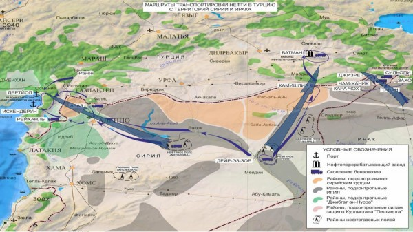 ISIS oil routes