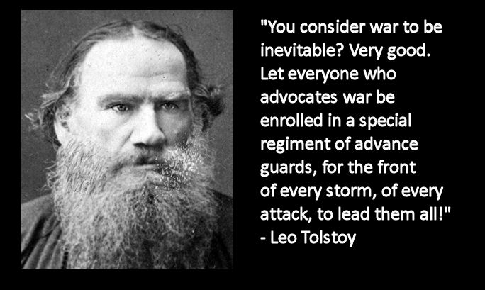 Advocate war - go & fight!
