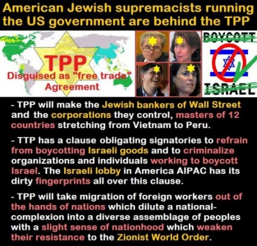 Zionists behind TPP