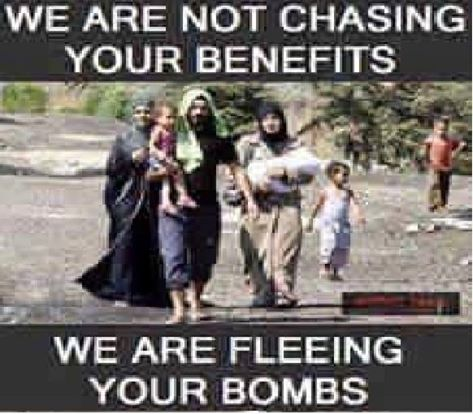 Fleeing bombs