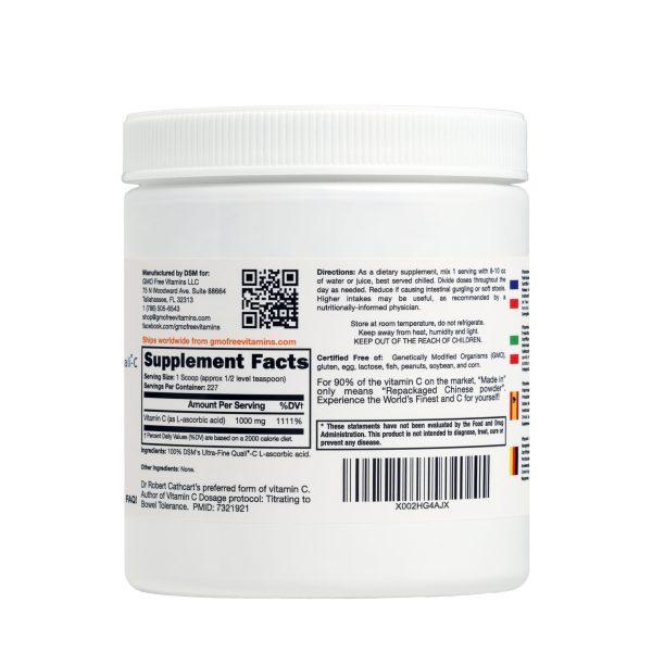 Quali-C Ultra Fine Vitamin C Supplement facts