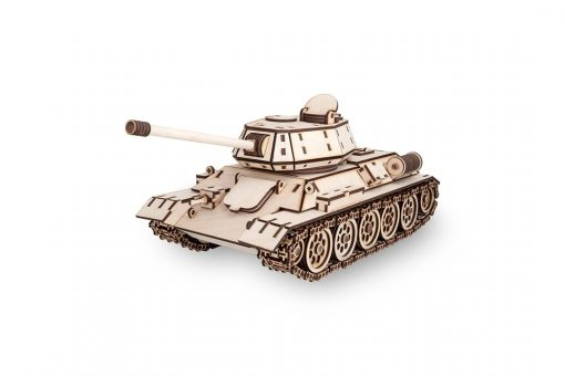 Tank T-34 modellino in legno: EWA Eco Wood Art