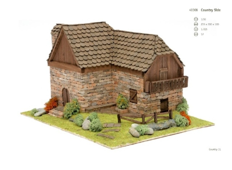 Casa Country 11 Domus kits: casetta in mattoncini art 40308